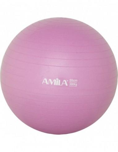 Μπάλα Γυμναστικής AMILA GYMBALL 55cm Ροζ - FH076