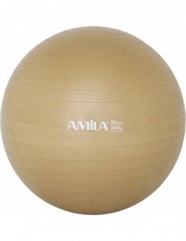 Μπάλα Γυμναστικής Gymball Amila 55cm Χρυσή Κωδ. 95829 -