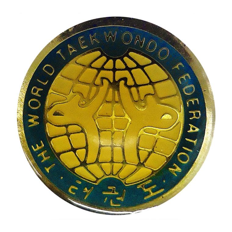 Καρφίτσα ΠΑΓΚΟΣΜΙΑ ΟΜΟΣΠΟΝΔΙΑ TAEKWONOD Παλιό Λογότυπο