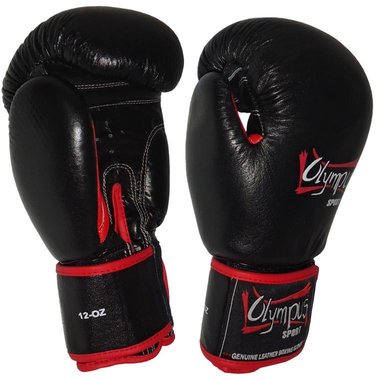 Πυγμαχικά Γάντια Olympus Δέρμα THAI στυλ Μαύρο/κόκκινο
