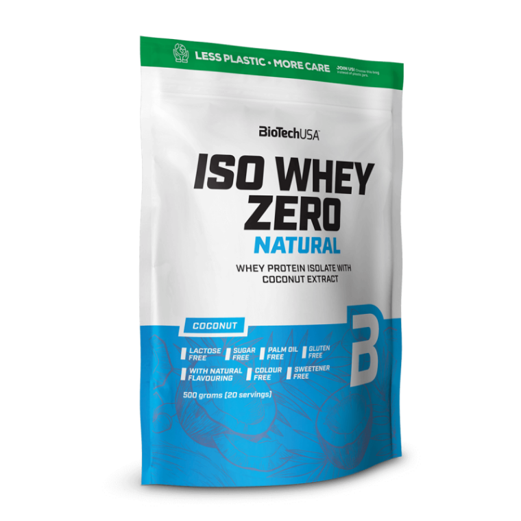 Biotech USA Iso Whey Zero Natural 500gr Lactose Free  Πρωτεΐνες > Πρωτείνες Απομονωμένου Ορού Γάλακτος (Isolate)